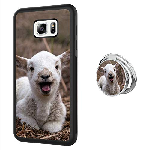 Case for Samsung Galaxy S6 Edge Plus with Ring Frame,Goat Design Shockproof Non-Slip Durable TPU Soft Material,Phone Case for Samsung Galaxy S6 Edge Plus
