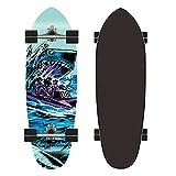 ZBYL Surfskate Carving Cruiser Skateboard Monopatín Completo para Niños Adolescentes y Adultos 7 Capas de Arce Longboard, Rodamientos de Bolas ABEC-9 Alta velicidad, Ruedas 78A, Carga de 150KG