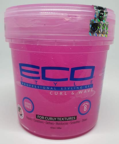 Price comparison product image Eco Style Curl & Wave Styling Gel Pink,  8 Ounce