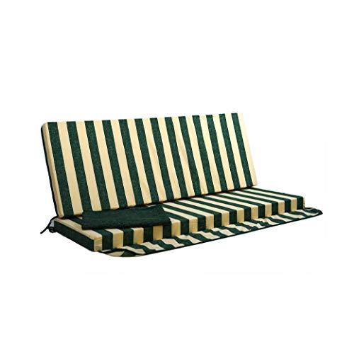 TECNOCUCI Cojín desenfundable para balancín de 3 plazas – 100% fabricado en Italia – Ideal para exteriores (jardines y patios)