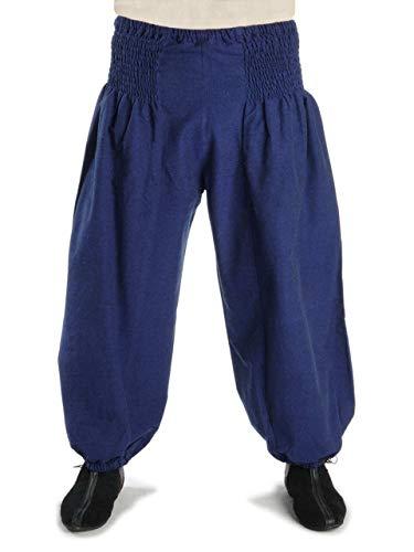 HEMAD Damen Hose Muck-Pluderhose blau S/M Mittelalter Piraten Hose