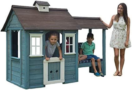 Sportspower Wooden Outdoor Playhouse with Bench product image