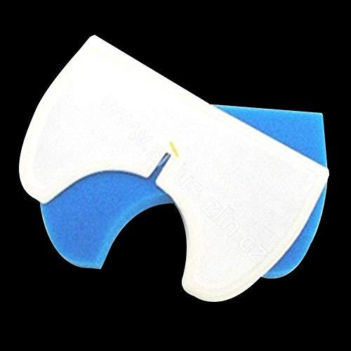 KTZAJO 1 unids blanco+1 unids azul esponja polvo Hepa filtro para Samsung DJ97-00846A SC4300 SC4316 SC4320 Partes de aspirador Accesorios piezas
