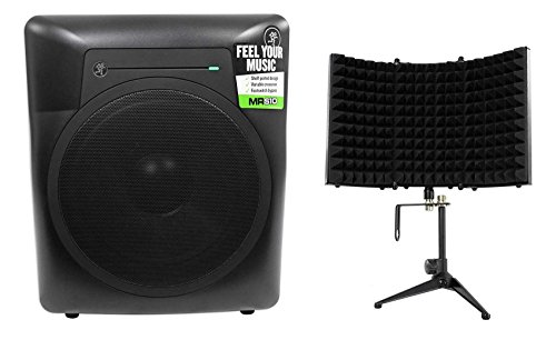 Best Prices! Mackie MRS10 10 120w Powered Active Studio Subwoofer Sub+Isolation Shield