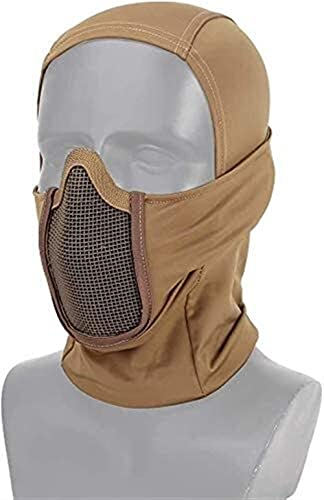 XBYN Taktische Ausrüstung Atmungsaktive Balaclava MASH Maske Full Face Airsoft Jagd CS Maske Reiten Motorhaube Nackenschutz Schutzhelm Futterkappe (Color : TAN)