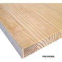 Barús® - Tableros de Madera Maciza de Pino. Natural, sin Barniz. Para Mesas, Encimeras, Muebles, Bricolaje. A Medida: (80 x 60 x 3 cm)
