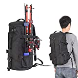 Fishing Seat Box & Rucksack, Cylindrical Fishing Tackle Backpack Large Capacity Polyester Fishing Bags...