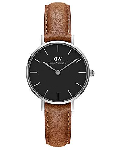 Daniel Wellington Damen Analog Quarz Uhr mit Leder Armband DW00100234