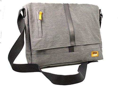 Umhängetasche Urban und grau, 38x 29x 8cm, Modell # 12468Deko -