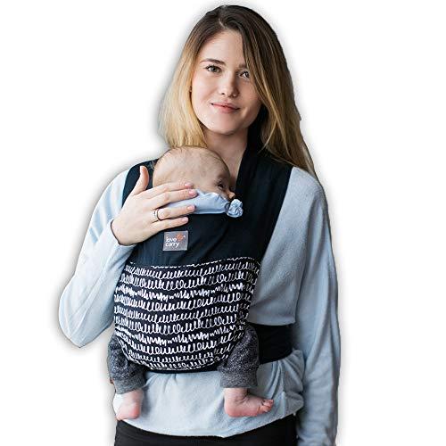 Love & Carry® Mei Tai Babytrage, ergonomisch, für Neugeborene, Schwarz