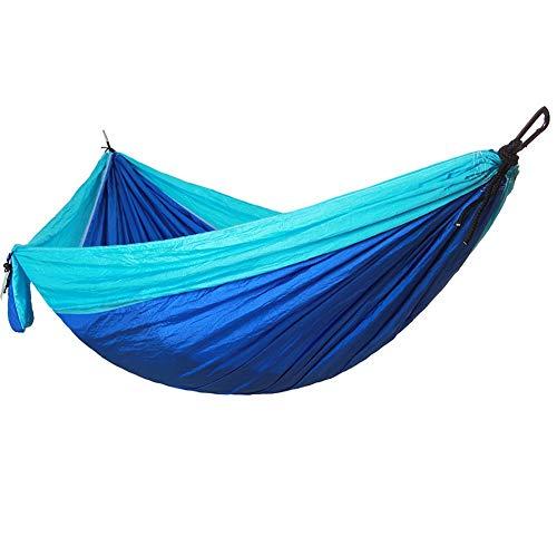 Camping hangmat Camping hangmat - Lichtgewicht Nylon Draagbare Hangmat, met een witte gesp en Ronde Rope for backpacken, kamperen, reizen, Strand, Yard Green 270x140cm