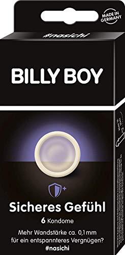Billy Boy Sicheres Gefühl Kondome – transparente Kondome mit mehr Wandstärke, 6-Stück