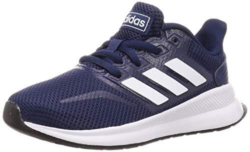 adidas Runfalcon K, Zapatillas para Correr, Dark Blue/FTWR White/Core Black, 35 EU