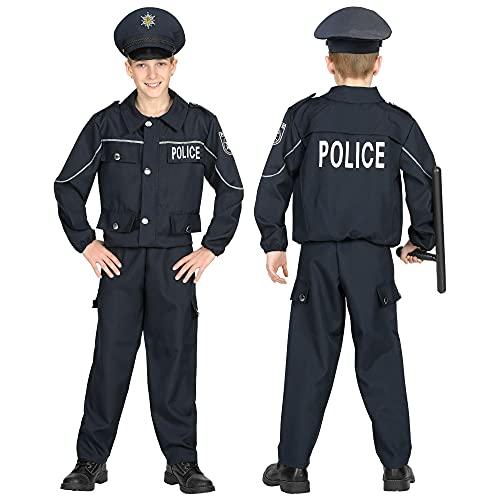 WIDMANN 04468 - Costume da poliziotto, da bambino, 158 cm, colore: Nero