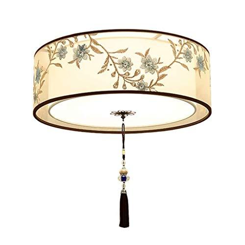 YWSZJ Simple y Moderna del Techo de la lámpara, lámpara de la Sala de Estar, Dormitorio de la lámpara Redonda, Bordado