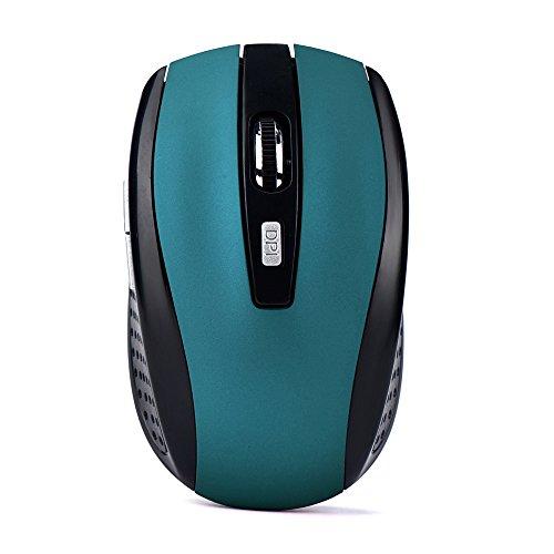 Ularma 2.4GHz inalámbrico juego USB receptor ratón Pro Gamer (azul)