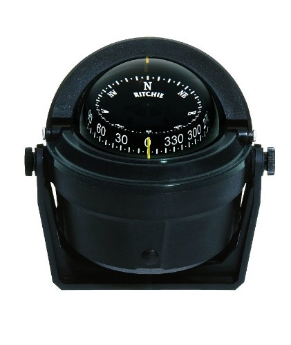 B-81 Ritchie Navigation Voyager Compass 3-Inch Dial with Bracket Mount (Black)