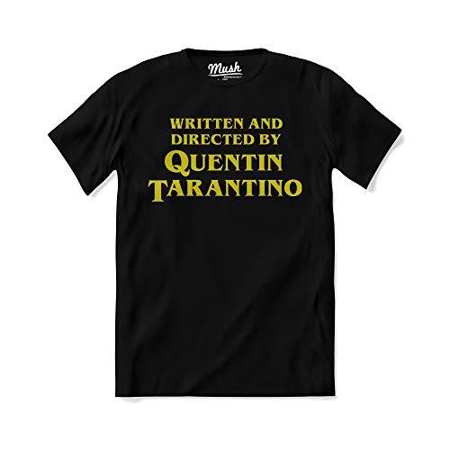 T-Shirt Titolo di Coda regia Quentin Tarantino - Film Pulp Fiction - 100% Cotone Organico, M-Uomo, Nero