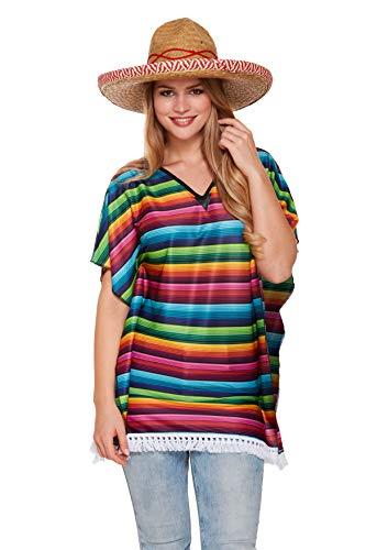 Mexicaanse Rainbow Poncho dames Fancy jurk kostuum accessoire