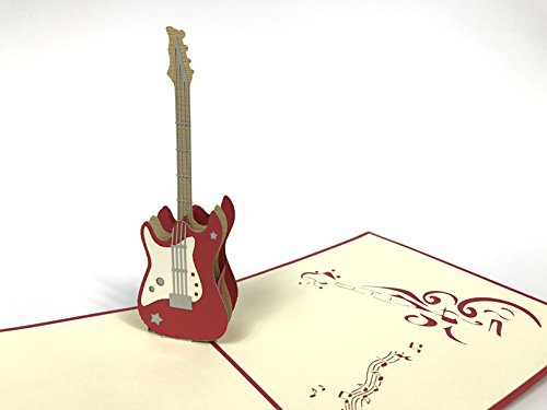 Guitar 3D Pop Up Greeting Cards Anniversary Baby Birthday Easter Halloween Mother's Father's Day New Home New Year Thanksgiving Valent