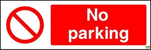 Panneau autocollant « No Parking » de 200 mm x 66 mm
