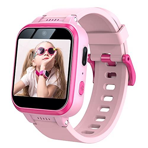 Kids Smart Watch with 90°Rotatable Camera Smartwatch Touch Screen Kids Watch Music Pedometer Flashlight Games Digital Wrist Watch for Girls