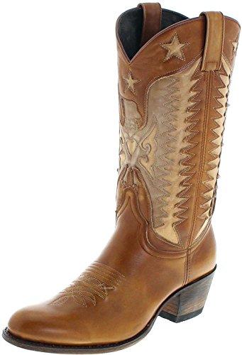 FB Fashion Boots Sendra Boots 14144 023 Lavado beige lederen laarzen voor dames bruin