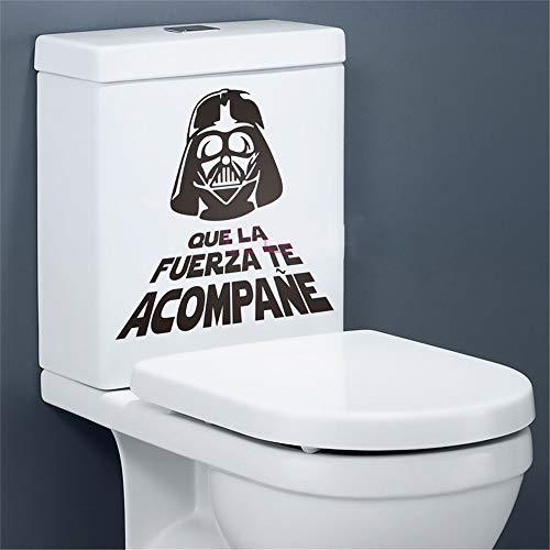 pegatina de pared frases Español Star Wars Cita WC Pegatinas de aseo Calcomanías Decoración para el hogar