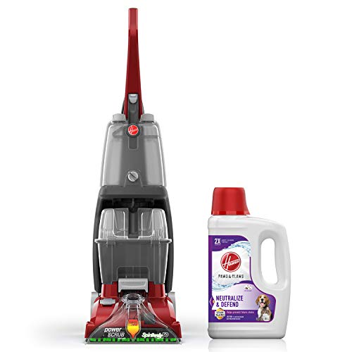 Best Review Of Hoover Power Scrub Deluxe Carpet Washer with Paws & Claws Carpet Cleaning Solution wi...
