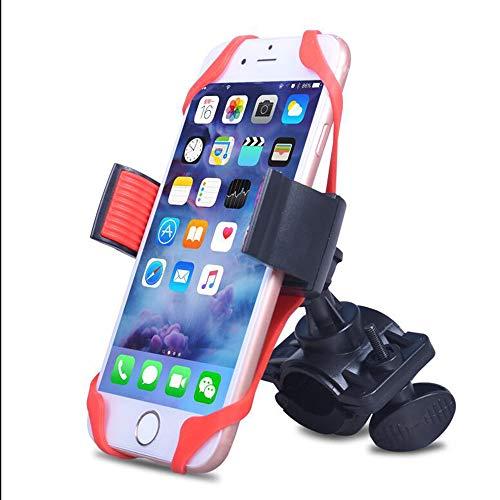 OFAY Fiets Mobiele Telefoonhouder, Siliconen Band Spider Web Clip 360° Roterende Anti-Fall Fiets Accessoires, Geschikt voor Fiets Motorfiets Mountainbike
