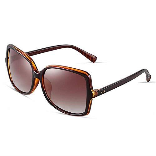ZCFDDP Sonnenbrille Polarized Grace Elegance Frauen Sonnenbrille Big Metal Frame Brillen 2018 Schild Anti Uv400 QualitätKaffee