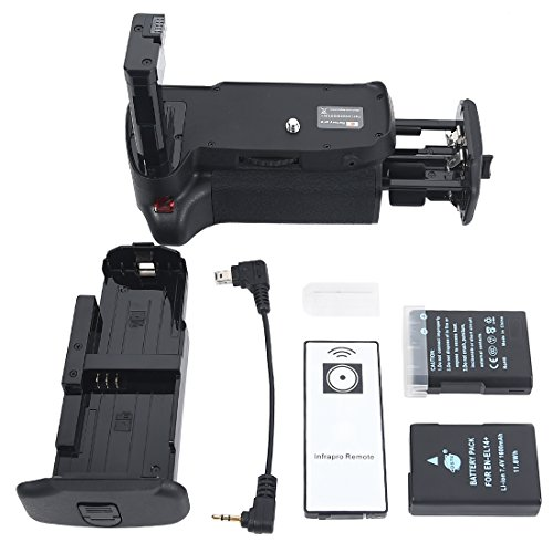 DSTE Replacement for Pro IR Remote MB-D31 Vertical Battery Grip + 2X EN-EL14 EN-EL14A Compatible Nikon D3100 D3200 D3300 D5300 SLR Digital Camera
