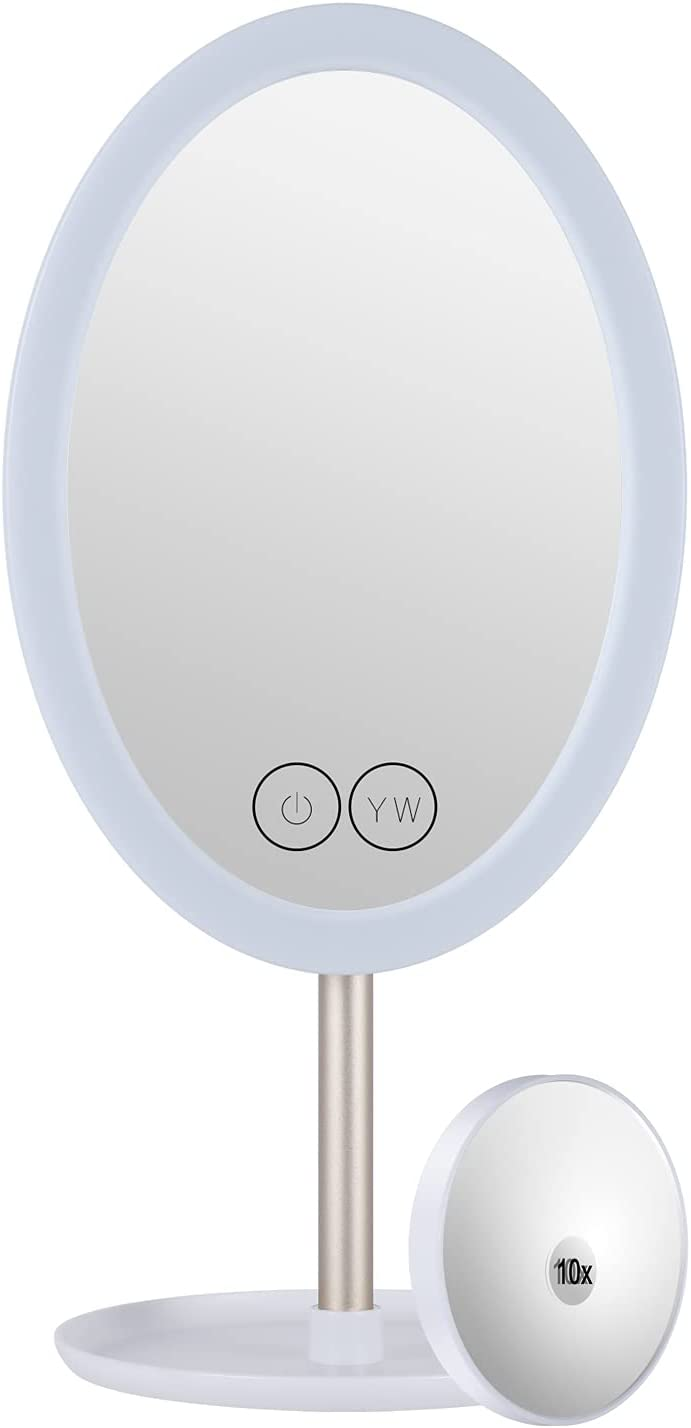 Lighted 35% OFF Makeup Mirror 40% OFF Cheap Sale Vanity with LED Lights 90°Rotation