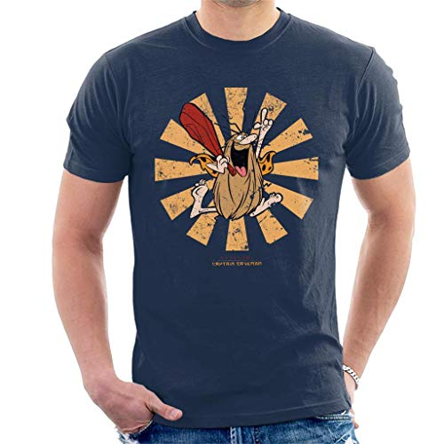 Captain Caveman Japanese T-shirt for Men, Blue or Black, S to XXL