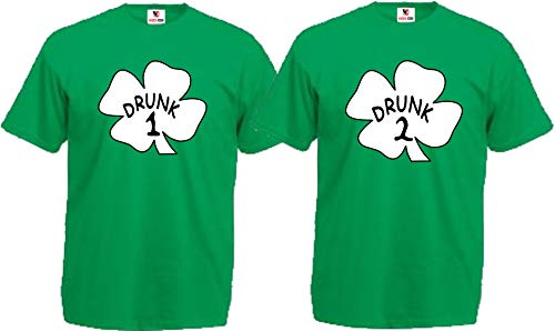 Drunk 1 Drunk 2 Drunk 3 Shirts Any Number Saint Patrick's Day Custom Matching Shirts