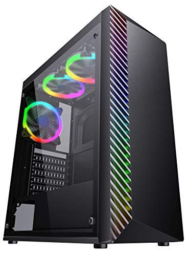 Eagle Warrior Gabinete Gaming Jaguar Mod Lighting ATX RGB USB 3.0 Negro CGLIGHTNINGJGW