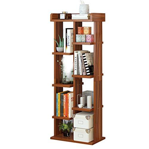 Bibliothèques Étagère à la maison Bibliothèque simple Support de rangement de salon simple Bibliothèque pour étudiants (Color : Brown, Size : 40x24x119cm)