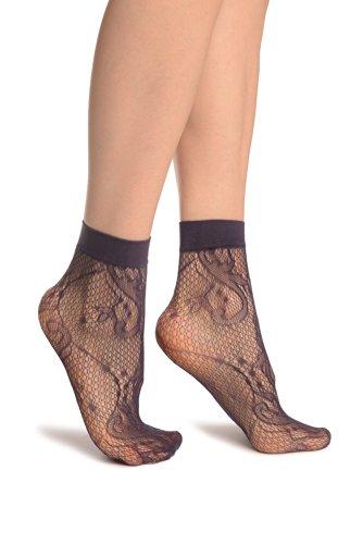 LissKiss Purple Gladiolus Flowers Ankle High Socks - Violett Socken Einheitsgroesse (37-42)