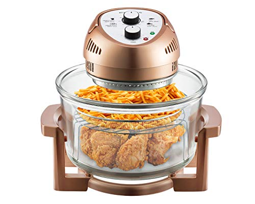 Big Boss Oil-less Air Fryer, 16 Quart, 1300W, Easy Operation with Built in Timer, Dishwasher Safe,...