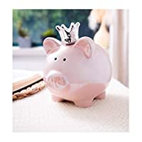 貯金箱 ピンクのブタの貯金箱セラミック家族貯金箱子供大人小変更大容量キャッシュボックスガール貯金箱ギフト お金の瓶を数える