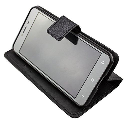 caseroxx Tasche für Medion Life E5008 MD 60746 Bookstyle-Case in schwarz Hülle Buch