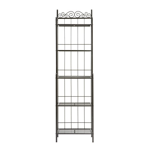 Home Decorators Collection Celtic Metal Baker' s Rack, 69.25Hx19.5W, Grey