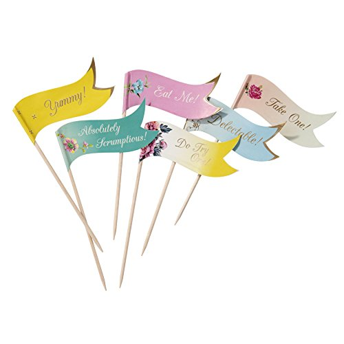 Talking Tables Truly Scrumptious Decorative Canape Food Flags, Paper, Multicolor