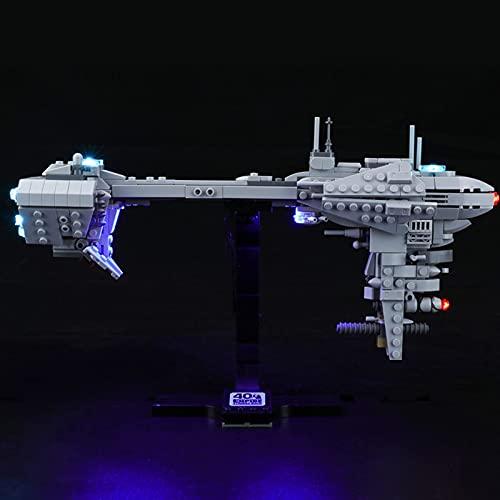 KCGNBQING Kit de iluminación LED para Lego Star Wars Nebulon-B Fragata - Compatible con Lego 77904 Bloques de construcción Modelo, no Incluye el Modelo Montaje de Rompecabezas