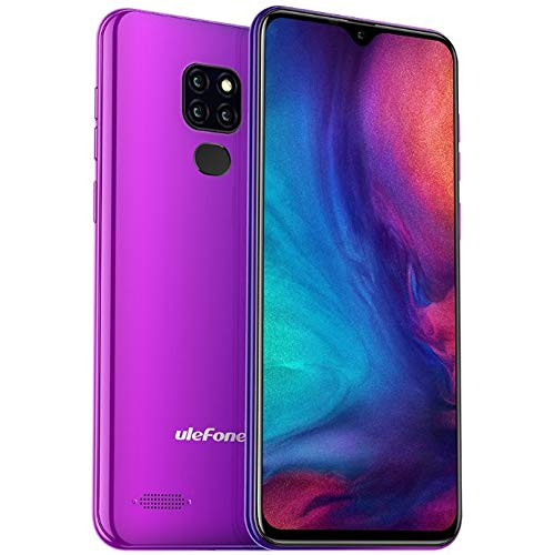 Teléfono móvil (2019), Ulefone Note 7P, 4G Dual SIM Smartphone Libres - 6.1 '' Pantalla de Gota de Agua, Android 9.0, MTK6761 2.0GHz 3GB RAM 32GB ROM, Triple cámara Trasera, GPS, OTG Oro