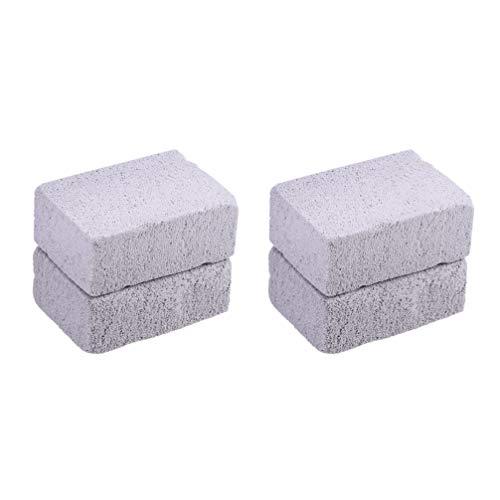 Cabilock - Juego de 4 placas de limpieza para ladrillos, placa de limpieza de ladrillos, piedra pómez, limpieza antical, piedra para la eliminación de manchas y limpieza de barbacoas