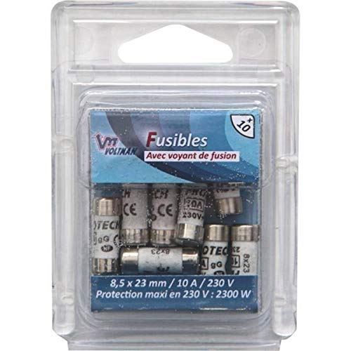 Voltman VOM511025 Pack of 3 Glass Fuses 5 x 20 mm 1.6 A