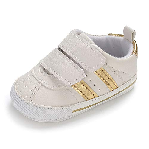 MK Matt Keely Scarpe Primi Passi Bambino Sneakers Bambina Scarpine Primi Passi Bimba Scarpette Neonato Bianche 3-6 Mesi
