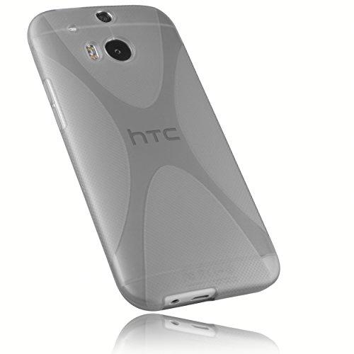 mumbi Hülle kompatibel mit HTC One M8 / M8s Handy Hülle Handyhülle, transparent schwarz