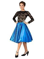 Double Platinum Womens Knee-Length Satin Skirt N7836
